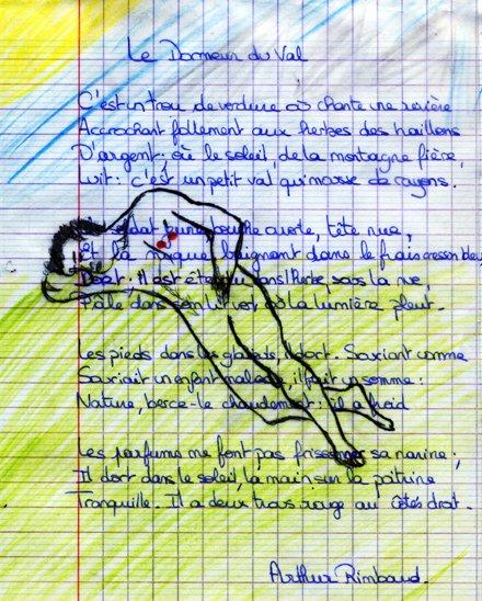 Le dormeur du val rimbaud rimbaud le dormeur du val - Commentaire compose le dormeur du val ...