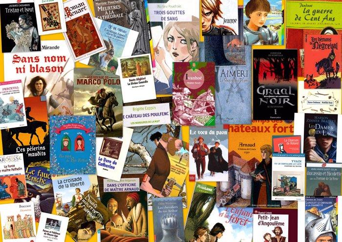 LE MOYEN-ÂGE en littérature jeunesse : BIBLIOGRAPHIE dans A ECOUTER Le-moyen-age-biblio-montage-photos-blog