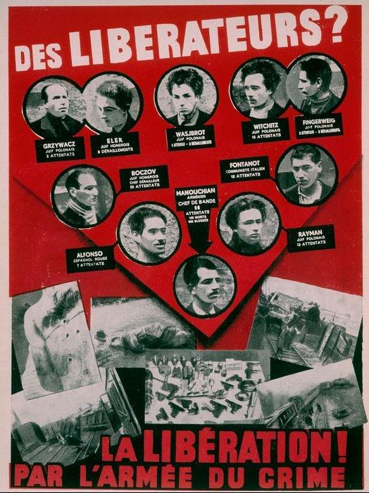 L'AFFICHE ROUGE -  LETTRE À MÉLINÉE : MANOUCHIAN - STROPHES POUR SE SOUVENIR : ARAGON dans A ECOUTER affiche-rouge