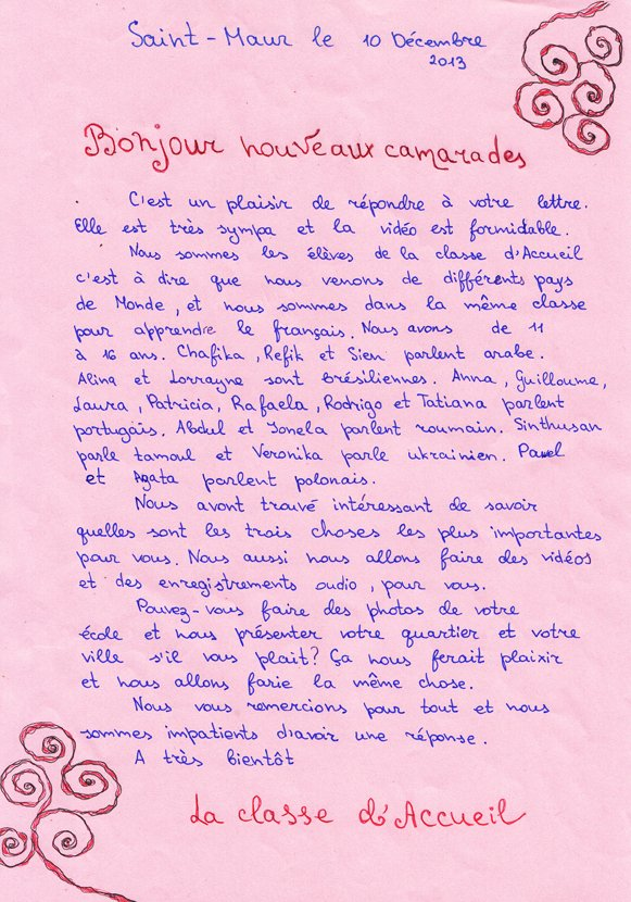Lettres pour nos correspondants allemands