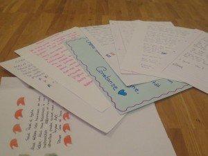 lettres pour la classe d´accueil