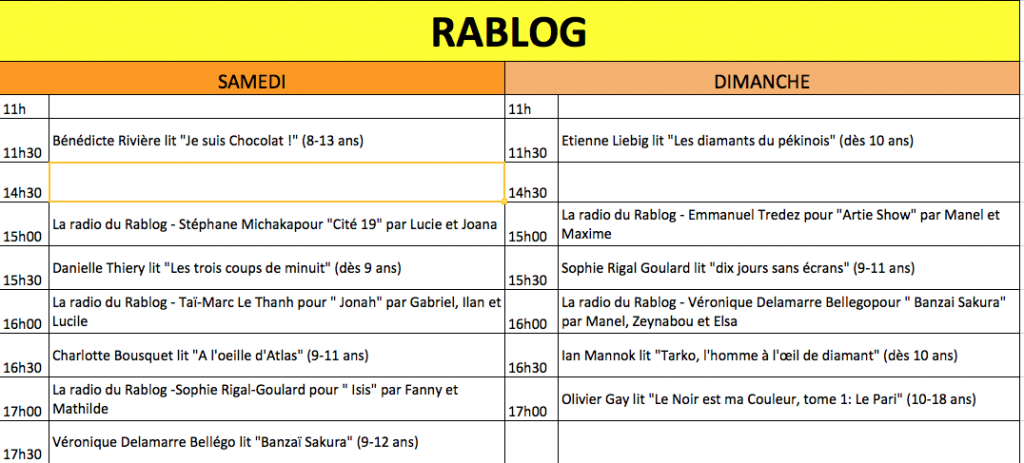 programme rablog
