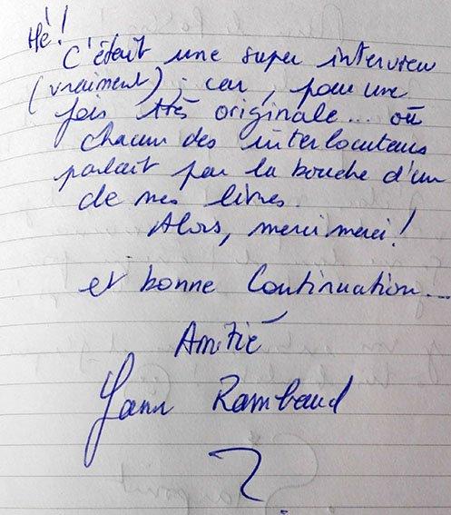 autographe yan rambaud